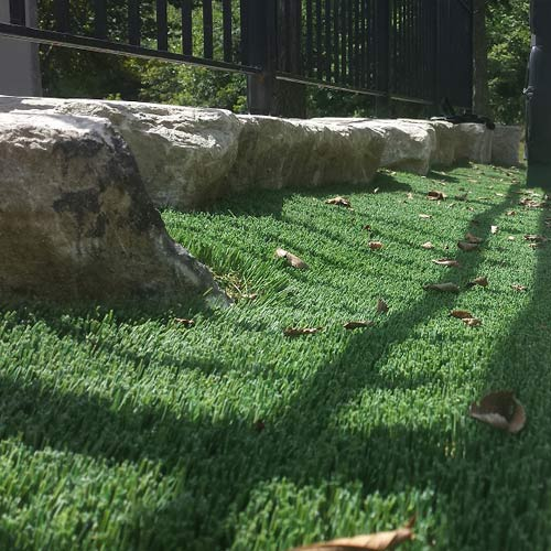 Close Up of Artificial Landscaping in St. Louis, Missouri