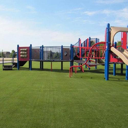 A SYNLawn Artificial Turf Playground Installation